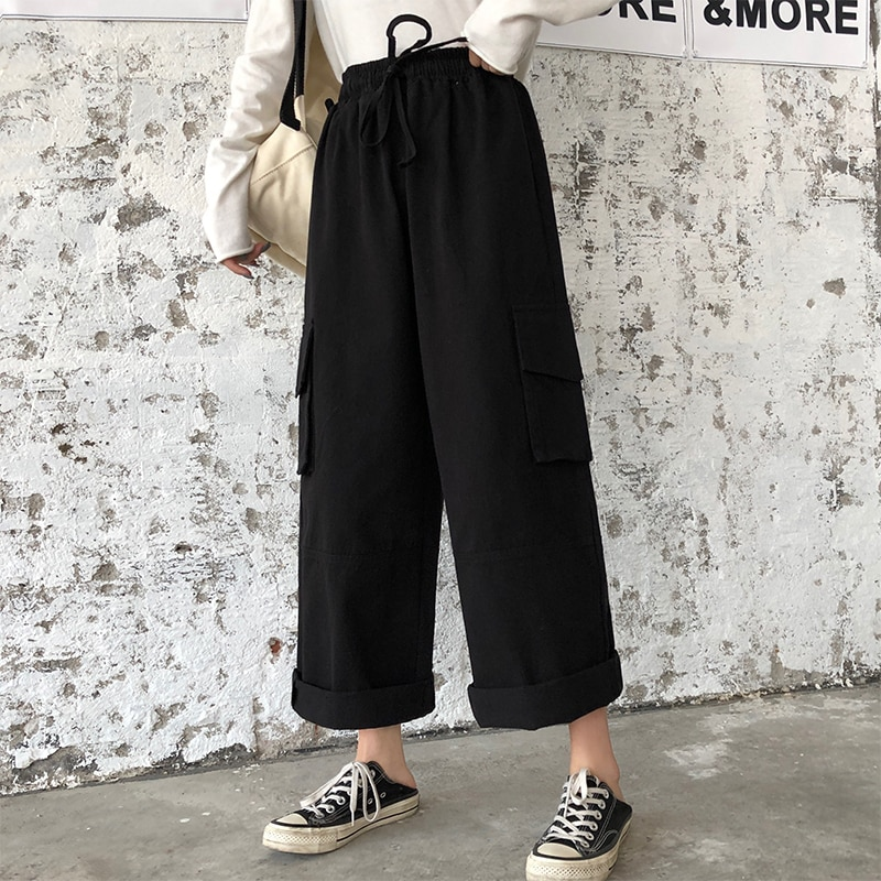 Overalls Women's Loose Cool Handsome Street BF Slimming High Waist Hip Hop Trendy Ins Small Wide-Leg