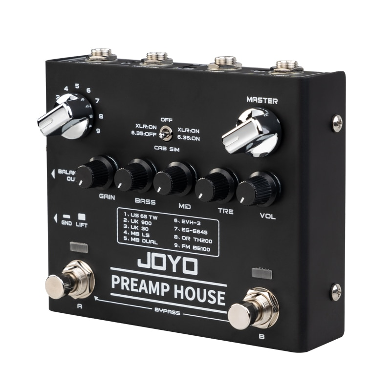 JOYO R-15 Preamp House Guitar Pedal 18 Tones Dual Channel Distortion Clean Pedal For Electric guitar Lonestar Effect Pedal Parts enlarge