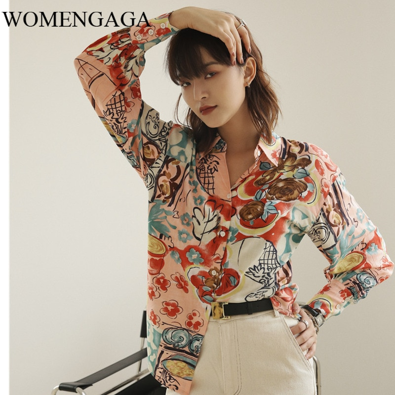 Corea Matisse estilo Floral blusa camisa de manga larga mujeres camisas de diseñador rosa para mujeres Top marca otoño 2020 ropa 8R3A