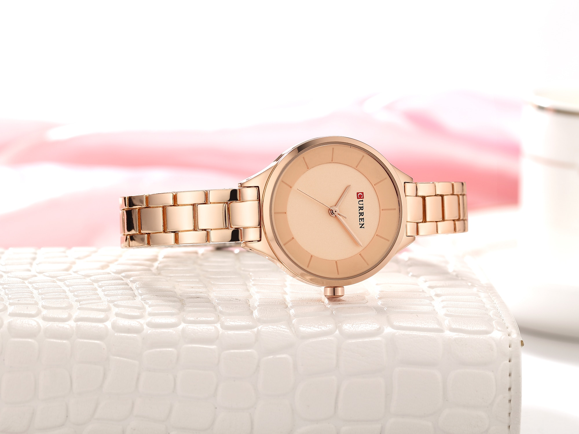 CURREN Top Brand Woman's Watch Creative Luxury Design Female Watches Stainless Steel Waterproof Casual Quartz Wristwatches Gifts enlarge