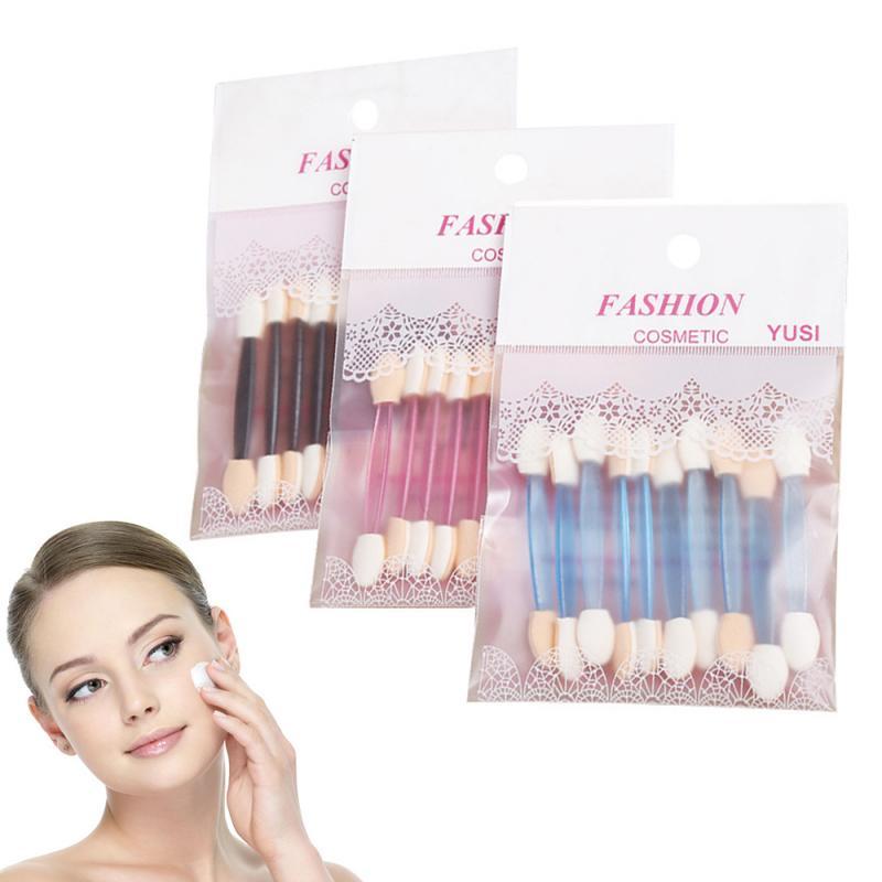 10pcs/set Eyeshadow  Applicator Double Head Eyeshadow Powder Eyeliner Brush Sponge Portable Eyes Bea