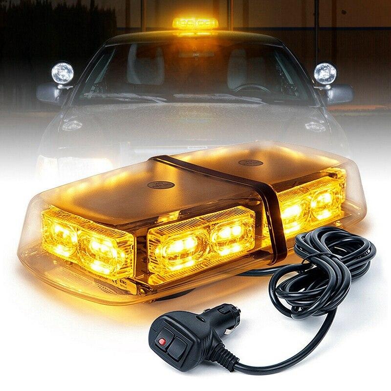 NEW-36 LED ستروب منارة أضواء على السطح فلاش تحذير الطوارئ 12 فولت-24 فولت شاحنة أصفر/العنبر