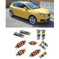 car accessories car led interior light kit for seat ibiza 6j 2008 2017 error free white 6000k super bright