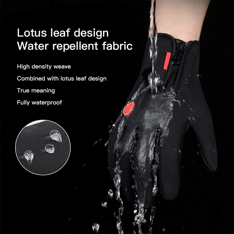 Unisex Touchscreen Winter Thermal Warm Fishing Cycling Bicycle Bike Ski Outdoor Camping Hiking Motorcycle Gloves Full Finger enlarge