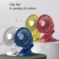 Portable USB Clip Fan Rechargeable Mini Table Desk Fan 360 Degree Rotation Adjustable Clip-on Fan Portable Air Conditioner