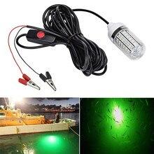 Panyz 12V lumière de pêche 108 pièces 2835 LED lumière de pêche sous-marine leurres lampe de recherche de poisson attire les crevettes calmar Krill (4 couleurs)