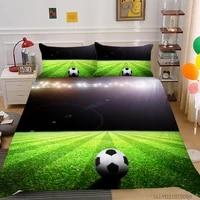3d football printing duvet cover set double king queen double size bedding set 32 pcs creative cool bedclothes pillowcase