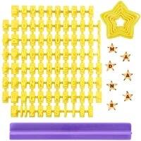 alphabet press cake mould set 92 pcs five pointed star cookie cutter set 6 pcs cookie stamps biscuit fondant embosser decorating