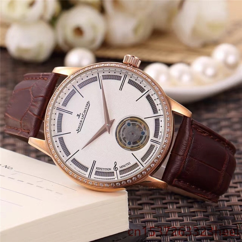 Jaeger-LeCoultre- watch men's skeleton automatic mechanical AAA watch gold skeleton retro men's wome