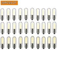20 pièces Dimmable LED COB Filament ampoules Mini E12 E14 1W 2W 4W lampes pour réfrigérateur réfrigérateur congélateur machine à coudre éclairage