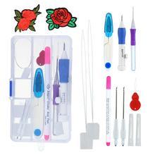 Magie DIY Stickerei Stift Stricken Nähen Werkzeug Kit Punch Nadel Set