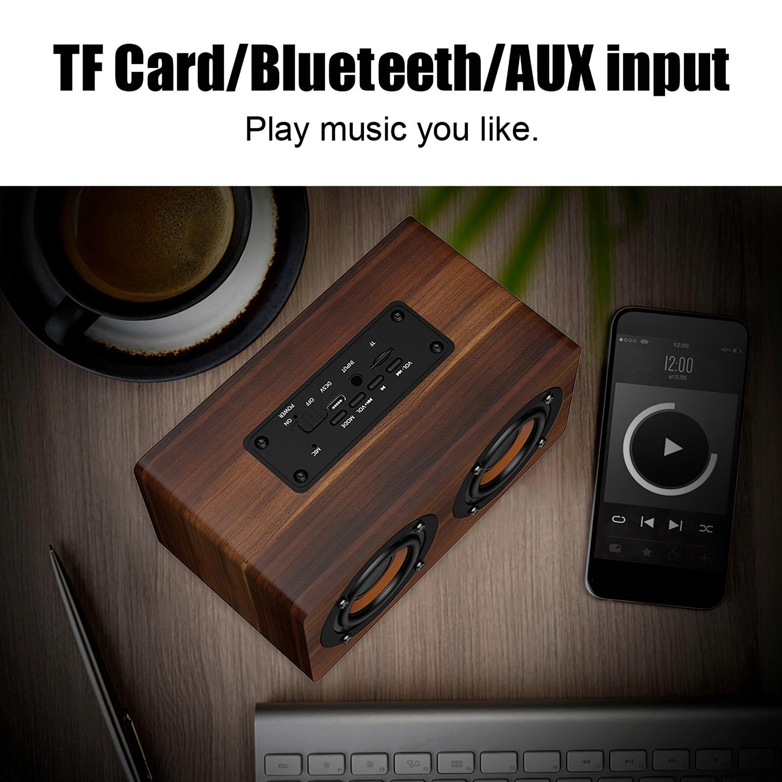 LED Digital Alarm Clock Bluetooth Loudspeaker USB Rechargeable Wireless Sound Box Built-in Microphone TF Card FM Radio Speaker enlarge