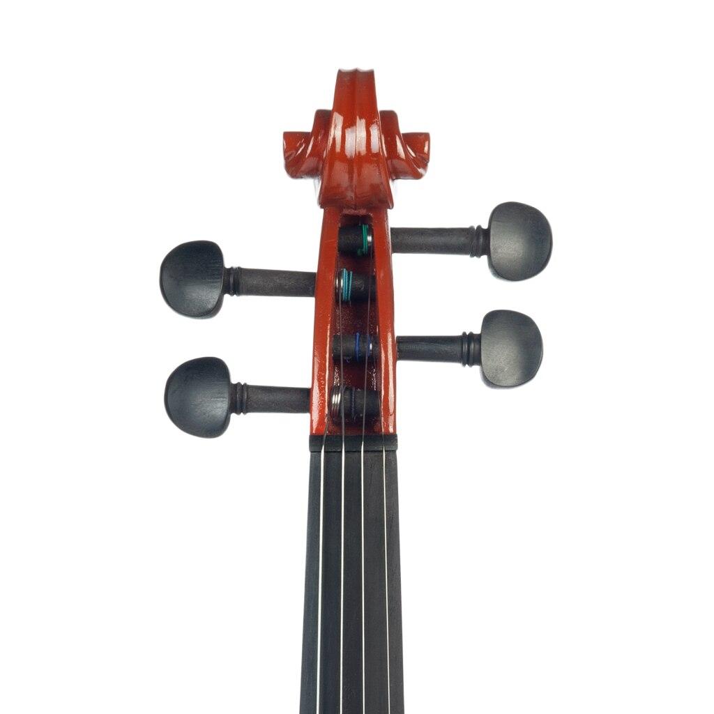 Student 4/4 Fiddle Electric Violin Solid Wood Silent Violin Case Violin Preamp Pickup W/Violin Bow Case Headphone Cable SET enlarge