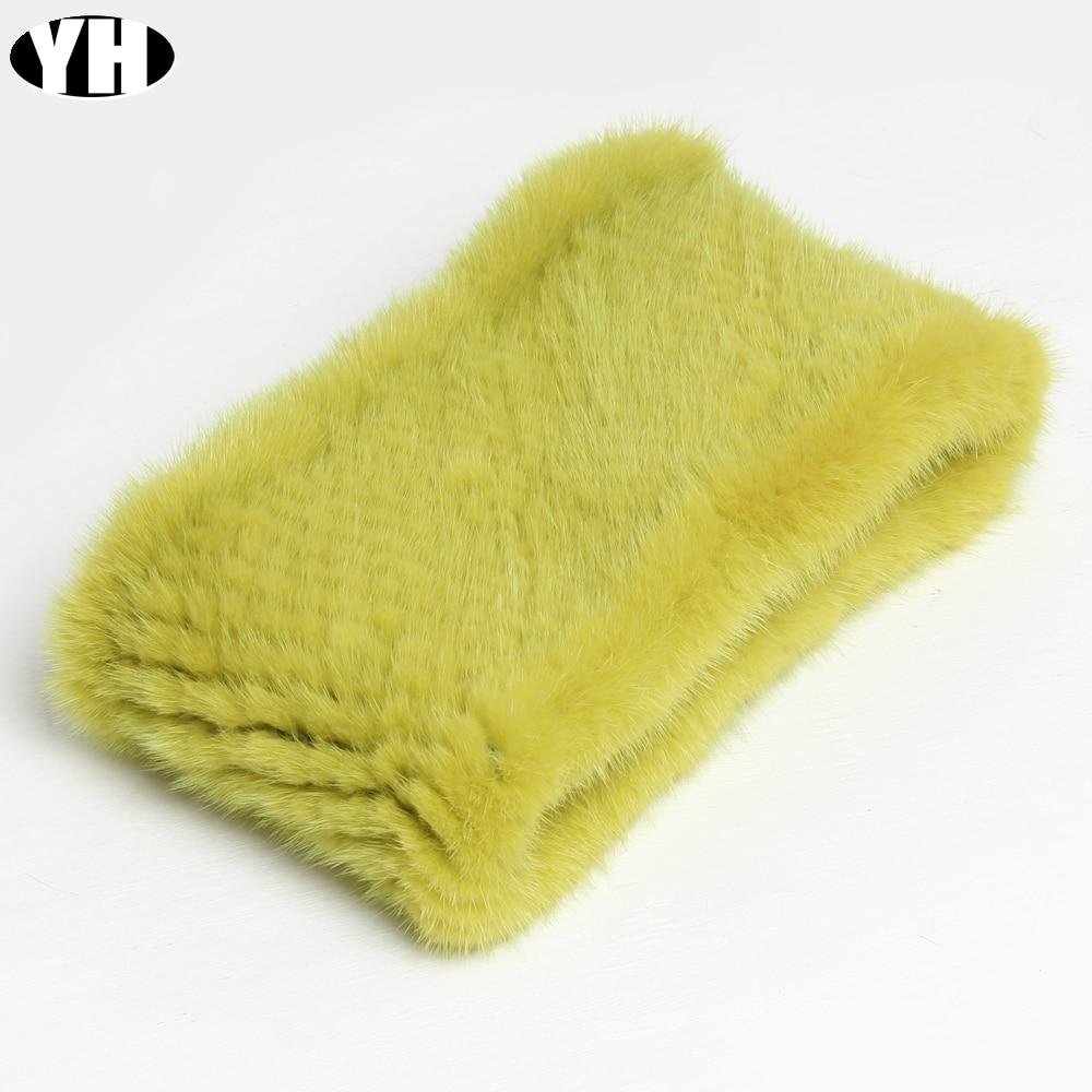 Fashion Lady Real Mink Fur Scarf Headbands Winter Warm Genuine Mink Fur Ring Scarves Luxury Natural Fur Neck Warmer Mufflers