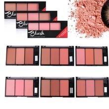 1 pièces 3 couleurs Rouge fard à joues poudre maquillage joue fard à joues poudre minéraux Palettes fard à joues Palette éclaircissante cosmétique
