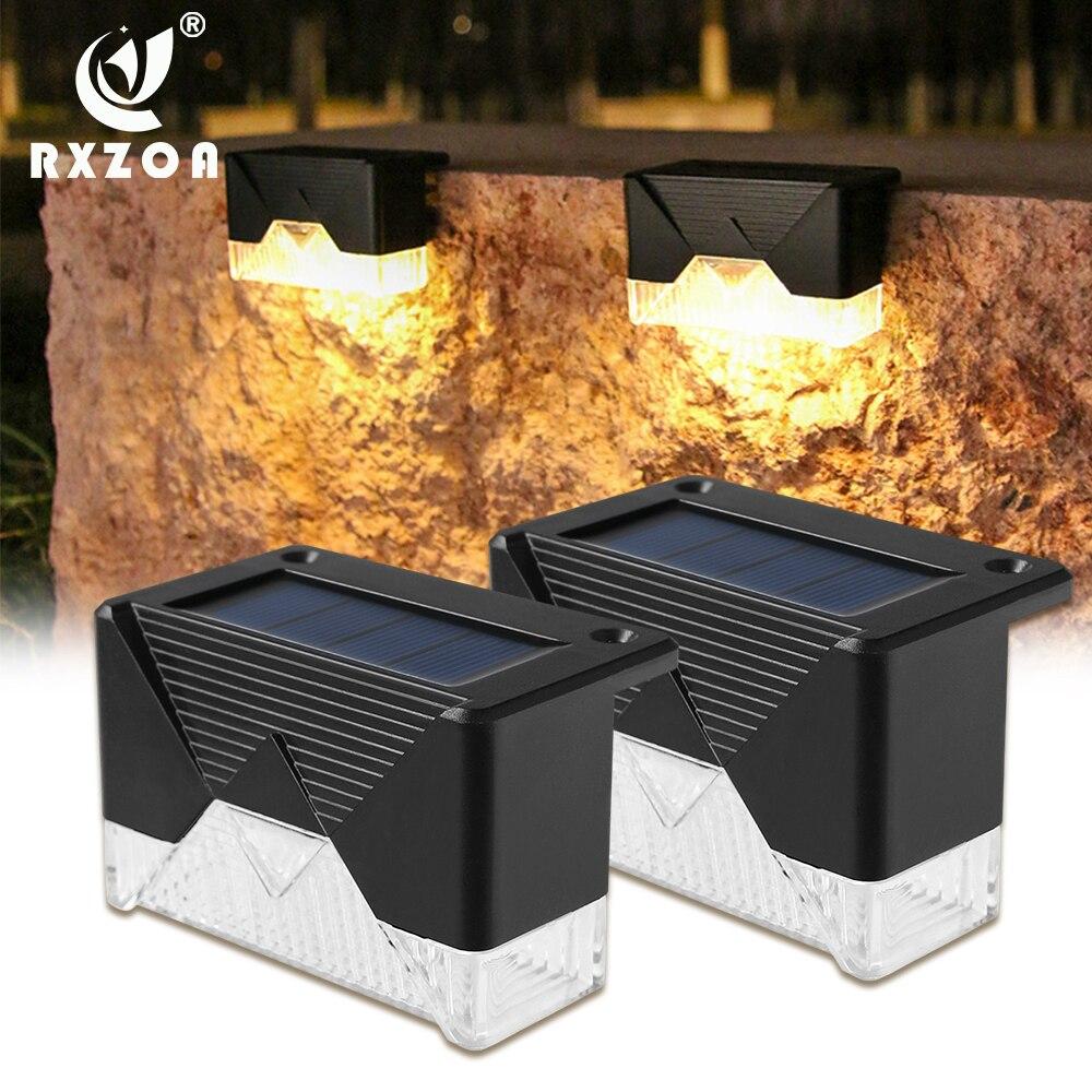 Светодиодный светильник на солнечной батарее для лестницы, уличный садовый светильник для дорожек, IP65, водонепроницаемый садовый светильн...