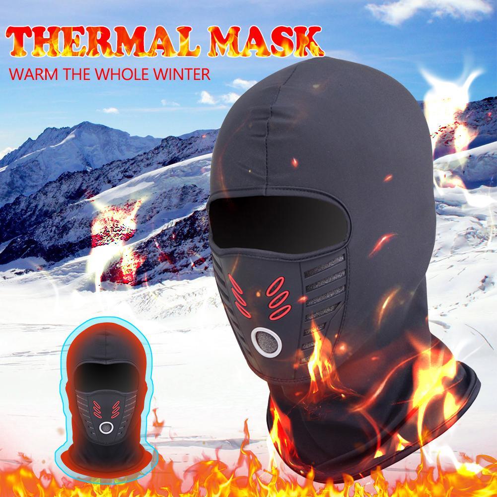 Winter Windproof Thermal Polar Fleece Neck Warmer Balaclava Waterproof Motorcycle Cycling Face Mask