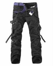 2020 hommes marque tactique Cargo pantalon hommes Combat armée militaire pantalon coton Multi poches Stretch Flexible homme décontracté pantalon 42