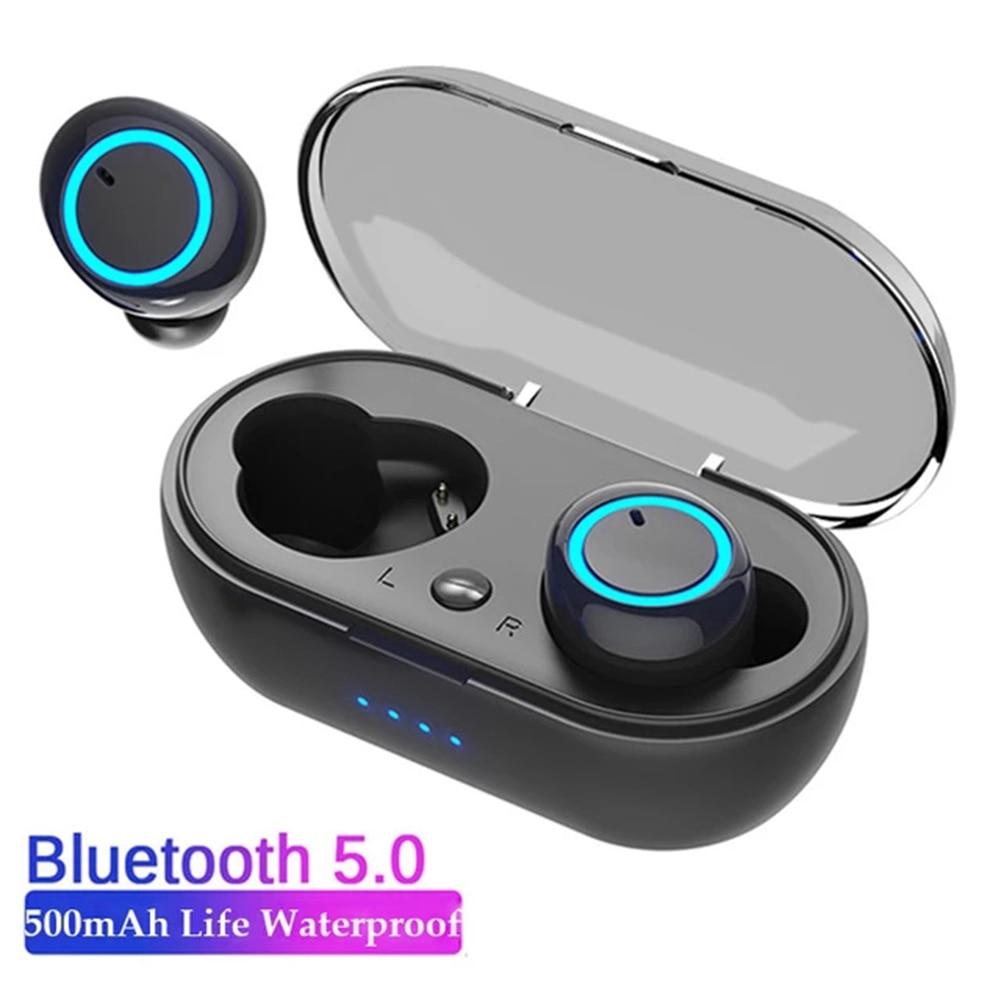 New TWS 5.0 Bluetooth Earbud Wireless Headphones Sports Waterproof  Earphones Noise Cancelling Music Headphones For Xiaomi Phone