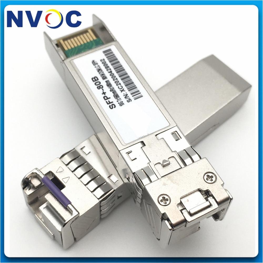 Envío gratis 10G BIDI 80km 1490/1550nm LC SFP módulo, monomodo de fibra 10G BIDI SFP + módulo, 10Gbps SFP + DOM transceptor