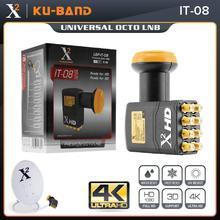 X Square LNB для спутникового ТВ приемника, универсальный KU диапазон LNB с высоким коэффициентом усиления, универсальный 8 out LNBF