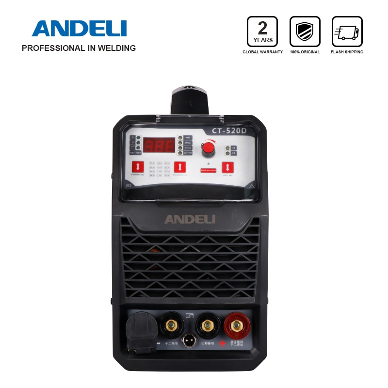 ANDELI Smart Portable Single Phase Welding Machine 3in1 CT-520D 3 in 1 Welder with CUT/MMA/TIG Welding machine 3 in 1