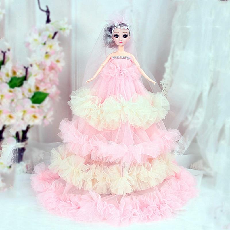 Barra de juguetes para niñas de 43CM, muñecas de vestir para niños, muñecas para decoración de bodas, muñecas para fiesta, regalo de cumpleaños para niñas