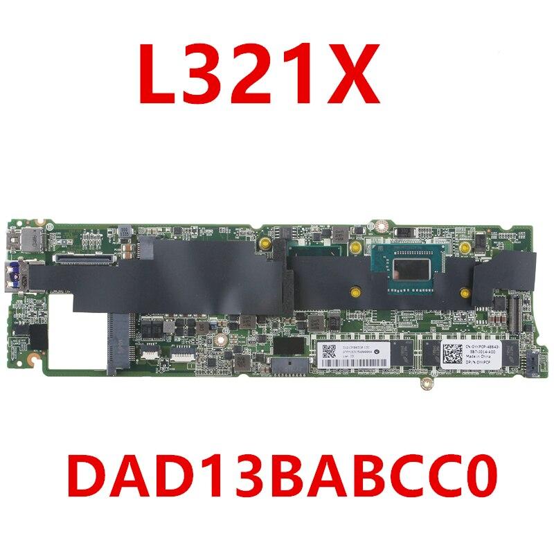 Novo notebook mainboard para dell xps 13 l321x para computador portátil placa-mãe dad13babcc0 4g I7-2637M da0d13mbcd1 intel