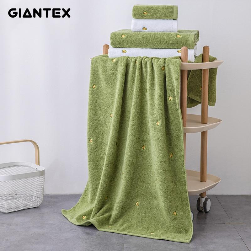 GIANTEX 70X140 الحمام النساء القطن منشفة استحمام التطريز منشفة الشاطئ حمام منشفة ملفوفة ثوب الحمام المنديل دي باين توالها