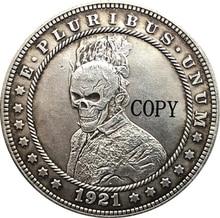 Hobo Nickel 1921-D amerykański morgan dolar moneta typ kopii 157