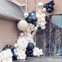 175pcs balloon arch garland kit chrome gold latex black balloons wedding baby show birthday globos decorations