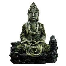 Statue de bouddha simulée   Artisanat, accessoires artisanat, hôtel assis réservoir de poissons, ornement Reptiles maison, résine Aquarium décoration