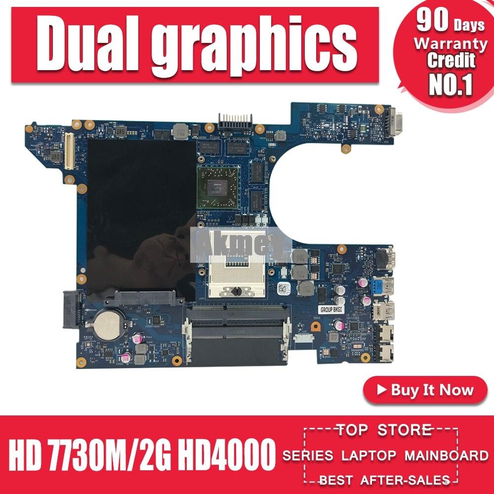 Akemy LA-8241P placa-mãe do portátil para For DELL inspiron 15r 7520 5520 cn-04p57c 4p57c gráficos duplos hd 7730 m/2g hd4000 placa principal