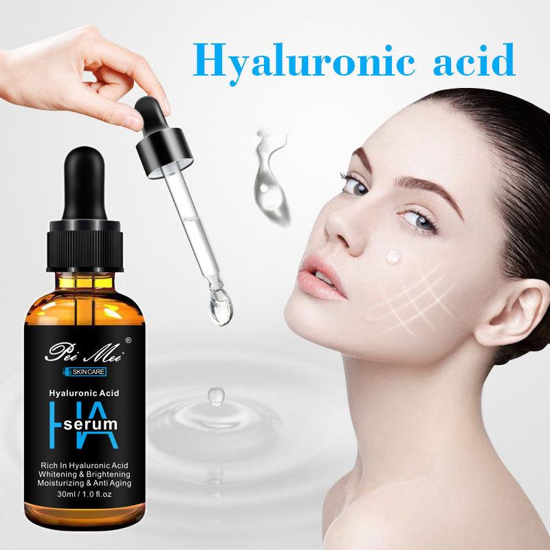 Hyaluronic Acid Face Serum Moisturizing Anti Aging Shrink Pore Essence Acne Treatment Whitening Brighten Facial Skin Care 30ml недорого
