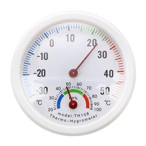 Термометр гигрометр игла Круглый циферблат тестер наружный белый