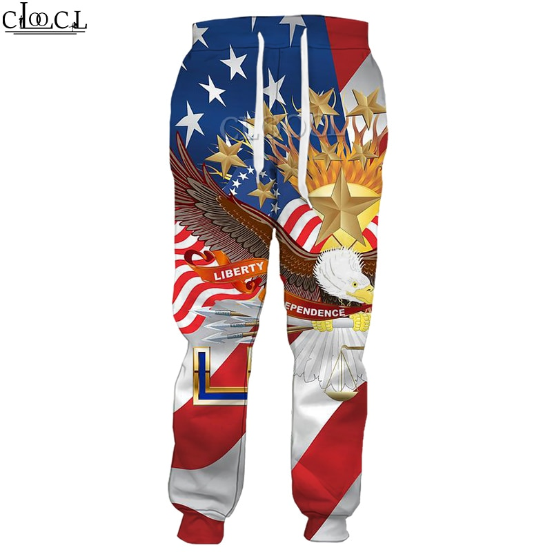 CLOOCL American Flag Eagle New Men Women Sport Trousers 3D Print Fashion Hot Selling Casual Pants