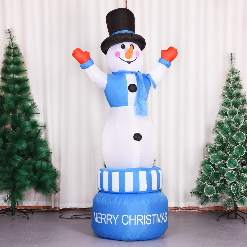 Christmas Inflatable Toy Inflatable Santa Claus Night Light Figure Outdoor Garden Toys Christmas Party Decorations New Year enlarge