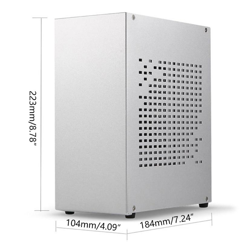 NEW Premium B07 Mini ITX computer case aluminum case HTPC host case USB 3.0 ITX case with graphics card 16x extension cable enlarge
