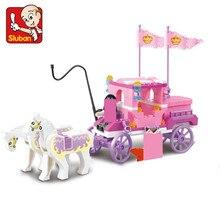 137 pièces fille princesse Royal chariot Wagon modèle blocs de construction ensembles cheval château chiffres briques amis jouets éducatifs filles