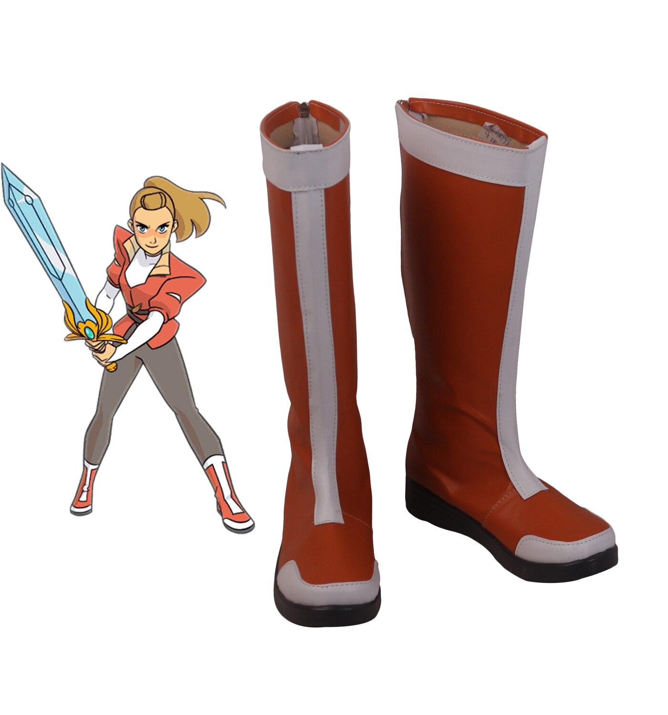 She-Ra princesa de la Adora de poder Cosplay zapatos botas rojas hechas a medida cualquier tamaño