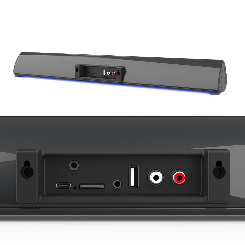 Microphone Speaker Wired Wireless Home Theater TV Sound Bar Column Powerful Bluetooth Soundbar for PC TV Karaoke Speakers Remote enlarge
