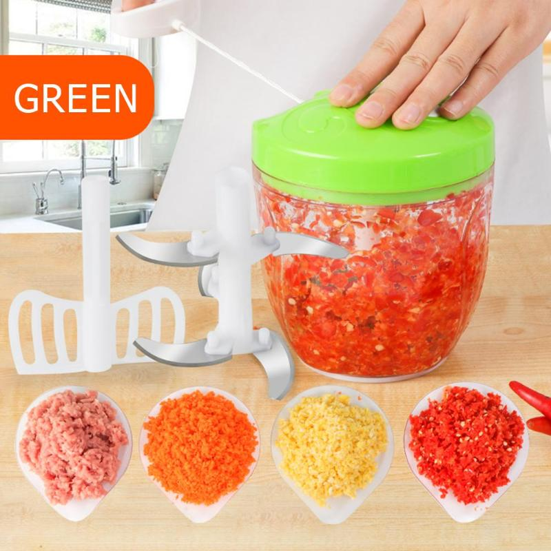 500/900ml Portable Manual Meat Grinder Fruit Vegetable Shredder Slicer Garlic Chopper Mincer Mixer B