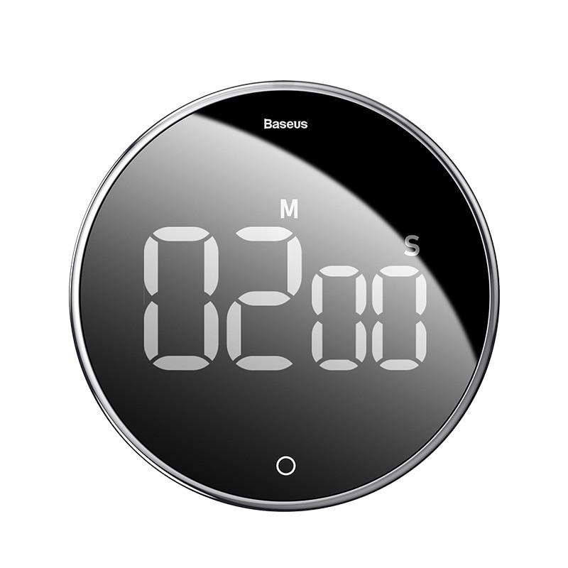 Reloj despertador Baseus con cuenta atrás, temporizador de cocina mecánico, Alarma para encimera, reloj magnético Digital, cuenta atrás Manual para Cocina