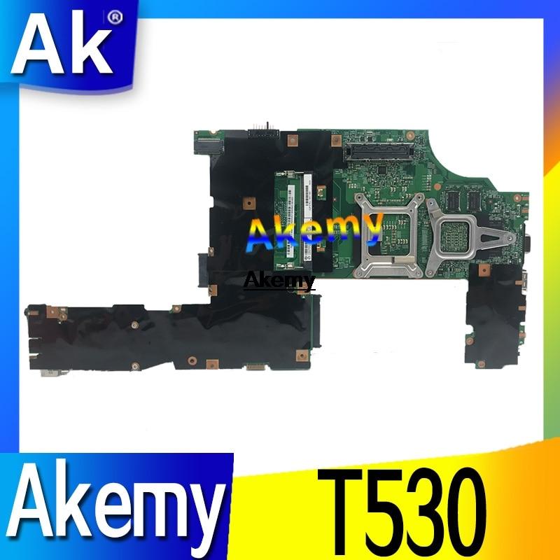 الكمبيوتر المحمول الأصلي لينوفو ثينك باد T530 nvidia N13P-NS1-A1 اللوحة الأم FRU 04w6824