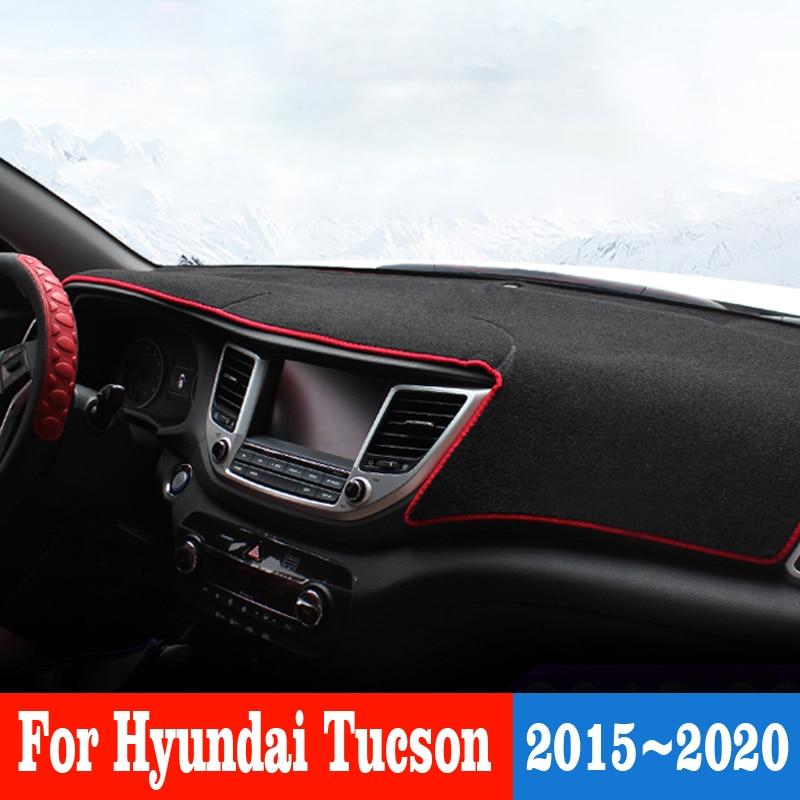 Car Dashboard Cover Mat Dash-Mat Sun Shade Pad Instrument Panel Carpets Anti-uv For Hyundai Tucson 2015-2020 Car Accessories недорого