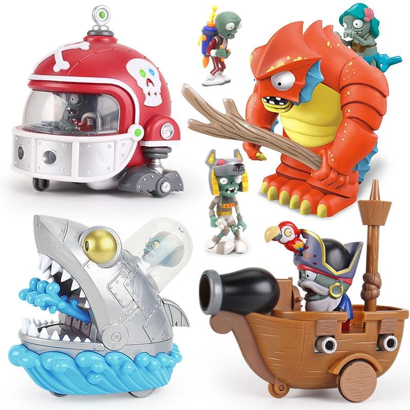 2020 novas plantas genuínas vs zumbi brinquedos 2 conjunto completo de meninos grande ejeção silicone macio anime figurechildren bonecas sem caixa