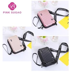 Pink Sugao crossbody bags for women luxury handbags women bags designer mini shoulder bag girls luggage style cute handbags new