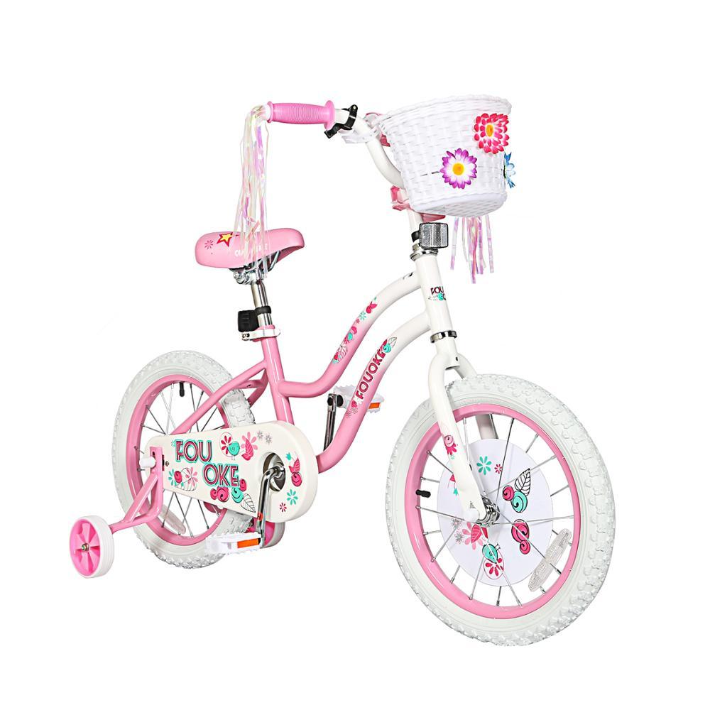 Детский велосипед 12 14 16 дюймов, велосипед принцессы для девочек с тренировочными колесами, велосипед для малышей и детей
