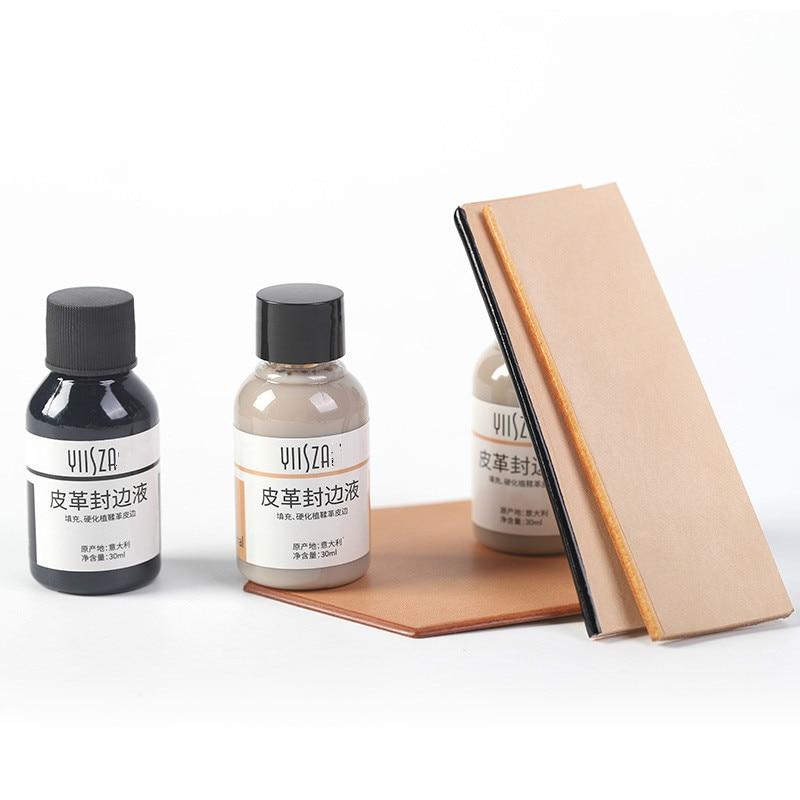 30 ml/garrafa de couro selagem pintura em aquarela borda de couro pintura kote borda polonês tratamento couro artesanato ferramenta brilhante artesanal