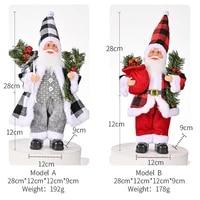 christmas decoration resin santa claus statue christmas tree ornament christmas decor for home xmas gift 2022 natal navidad noel